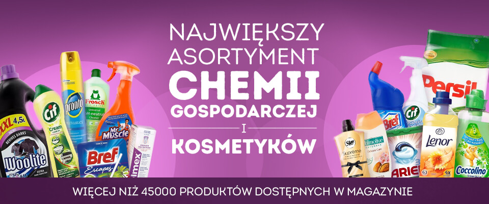The biggest assortment of household chemicals and cosmetics