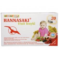 Dětský čaj Hannasaki Fruit fenykl 20 sáčků