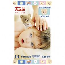 Dětské pleny Dry Fit s vrstvou Perfo-Soft velikost XL 15-30 kg 14 ks