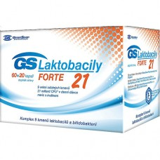 GS Laktobacily Forte21 60 kapslí + 20 kapslí ZDARMA