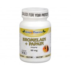 Bromelain + papain 60 mg 90 tbl.