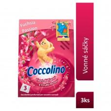 Coccolino Fiori di Tiaré e Frutti Rossi Saszetki zapachowe do szafy 3 sztuki