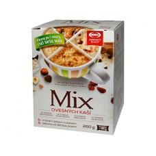 Mix ovesných kaší 260g (1xovesná brusinková, 1xovesná čokoládová, 1xovesná ořechová, 1xovesná vanilková)