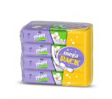 Happy Silk & Cotton Wet Wipes 4 x 64 pcs