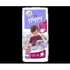 Bella Baby Happy Pieluszki jednorazowe 5 junior 12-25 kg 42 sztuki