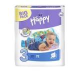 Bella Baby Happy Pieluszki jednorazowe 3 midi 5-9 kg 72 sztuki