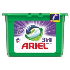 Ariel Lavender 3 w 1 Kapsułki do prania, 14prań