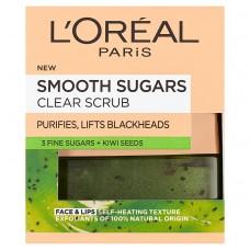 L'Oréal Paris Smooth Sugars Clear Scrub 50ml