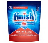 Finish All in 1 Max Tabletki do mycia naczyń w zmywarkach 358,6 g (22 sztuki)