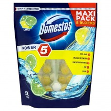 Domestos Power 5 Lime Kostka toaletowa 5 x 55 g