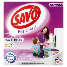 Savo Without Chlorine Color Washing Powder for Colour Laundry 20 Washes