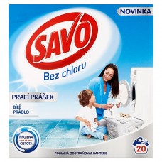 Savo Without Chlorine White Washing Powder for White Laundry 20 Washes