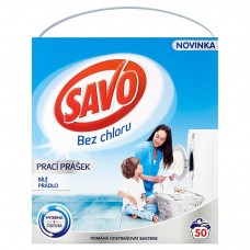 Savo Without Chlorine White Washing Powder for White Laundry 50 Washes