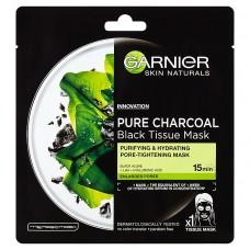 Garnier Pure Charcoal Oczyszczająca maska na tkaninie z węglem 28 g