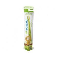 Dětský zubní kartáček soft - zelený