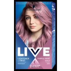 Schwarzkopf Live Lightener + Twist Hair Colorant Purple Rosé Gold 105