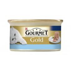 Gourmet Gold Pełnoporcjowa karma dla dorosłych kotów mus z tuńczykiem 85 g