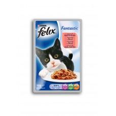 Felix Fantastic Karma dla dorosłych kotów z łososiem w galaretce 100 g