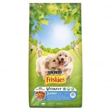 Friskies Vitafit Junior z kurczakiem dodatkiem mleka i warzyw Karma dla szczeniąt 15 kg