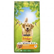 Friskies Vitafit Balance z kurczakiem i dodatkiem warzyw Karma dla dorosłych psów 15 kg