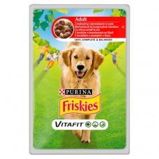 Friskies Vitafit Adult z wołowiną i ziemniakami w sosie Pełnoporcjowa karma dla dorosłych psów 100 g