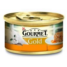 Gourmet Gold Pełnoporcjowa karma dla dorosłych kotów z kurczakiem i marchewką 85 g