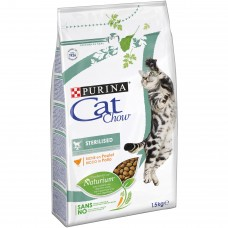 CAT CHOW Sterilised Karma bogata w kurczaka 1,5 kg
