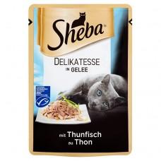 Sheba Delicacy in Jelly Karma dla dorosłych kotów z tuńczykiem 85 g