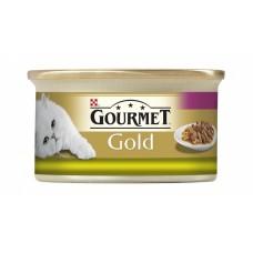Gourmet Gold Pełnoporcjowa karma dla dorosłych kotów mus z kurczakiem 85 g