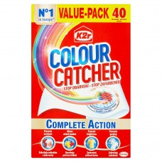 K2r Colour Catcher Detergent Wipes 40 pcs