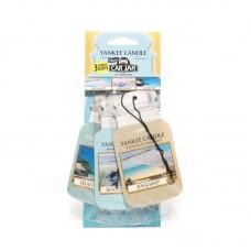 Yankee Candle Car Jar papírová visačka Coconut Bay, Ocean Water, Sun&Sand