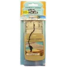Yankee Candle Car Jar papírová visačka Sun&Sand, Beachwalk, Island Spa
