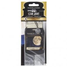 Yankee Candle Car Jar papírová visačka s vůní letní noci