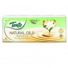 Tento Natural Oils Jasmine Oil Handkerchiefs 4 Plies 10 x 10 pcs