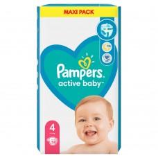 Pampers Active Baby Rozmiar 4, 58 pieluszek, 9-14 kg