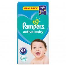 Pampers Active Baby Rozmiar 4+, 53 pieluszki, 10-15 kg