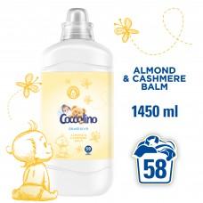Coccolino Sensitive Cashmere & Almond Fabric Softener 58 Washes 1.45L