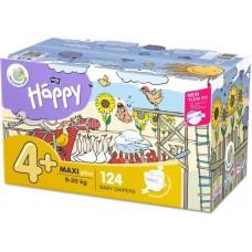 Bella Baby Happy Pieluszka jednorazowa 4+ maxi plus 9-20 kg 124 sztuki