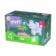 Bella Baby Happy Pieluszki jednorazowe 4 maxi 8-18 kg 132 sztuki