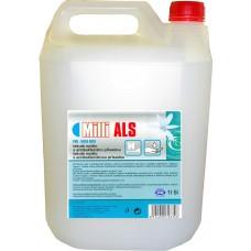 MILLI ALS aktivní tekuté mýdlo na hygienicky čisté ruce, čiré, bez parfemace s antibakteriální přísadou