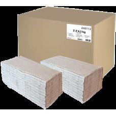 Skládaný ručník Z-Z  9.5 kg šedý 1-vrstvý, recyklovaný