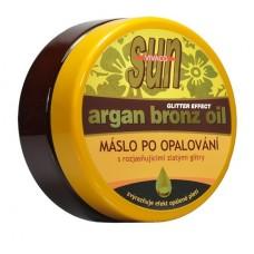 Zvláčňující máslo Argan bronz oil s GLITRY po opalování 200 ml