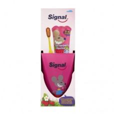 Signal Sada pro dokonale čisté zuby pro děti Strawberry (zubní pasta + kartáček)