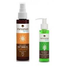 Opalovací olej na obličej a tělo SPF 15 100 ml + Aloe Vera Gel 100 ml