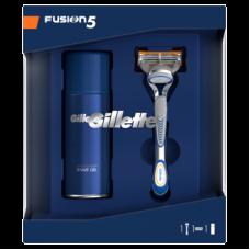 Gillette Dárkové Balení Fusion5 Holicí Strojek + Sensitive Gel Na holení