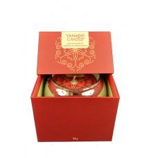 Yankee Candle Dárkový box se svíčkou Red Apple Wreath