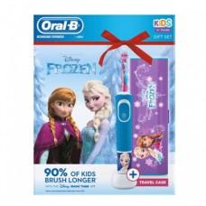 ORAL B Elektrický zubní kartáček Vitality Frozen + cestovní pouzdro