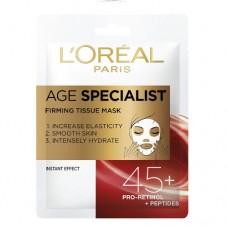 L´Oréal Paris Textilní maska pro okamžité zpevnění a vyhlazení pleti Age Specialist 45+