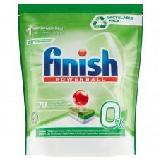 Finish 0% Tabletki do mycia naczyń w zmywarce 1120 g (70 sztuki)