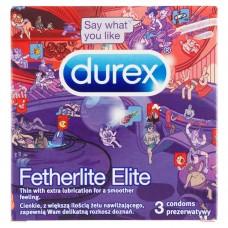 Durex Fetherlite Elite Będzie ogień! Prezerwatywy 3 sztuki
